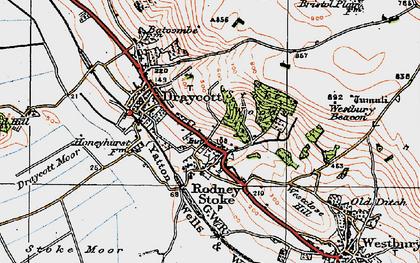 Old map of Rodney Stoke in 1919
