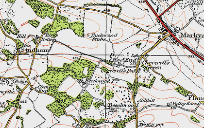 Old map of Roe End in 1920