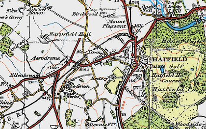 Old map of Roe Green in 1920