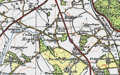 Old map of Roestock in 1920