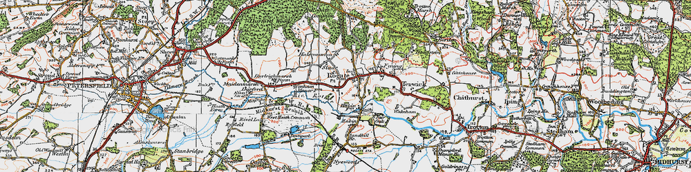 Old map of Rogate in 1919