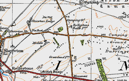Old map of Airman's Corner in 1919