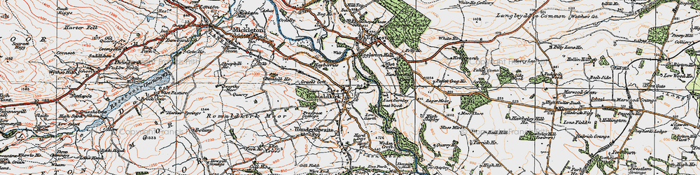 Old map of Romaldkirk in 1925