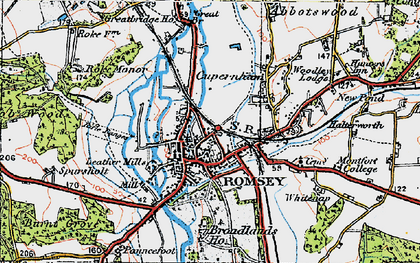 Old map of Romsey in 1919