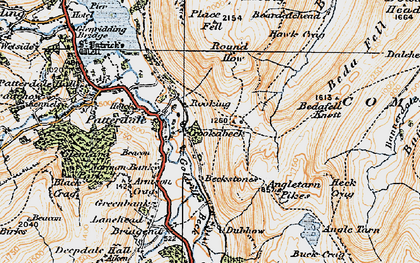 Old map of Bannerdale Beck in 1925