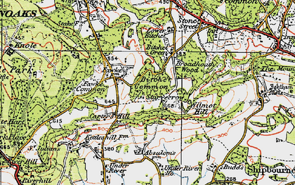 Old map of Wilmot Hill in 1920