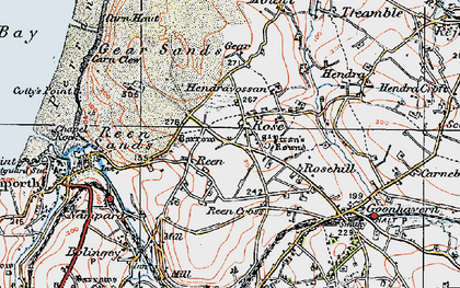 Old map of Rose in 1919