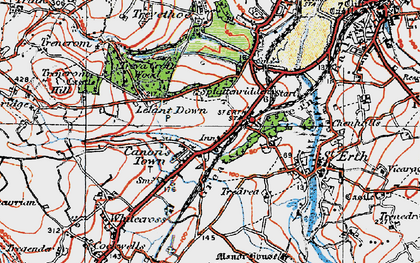 Old map of Rose-an-Grouse in 1919