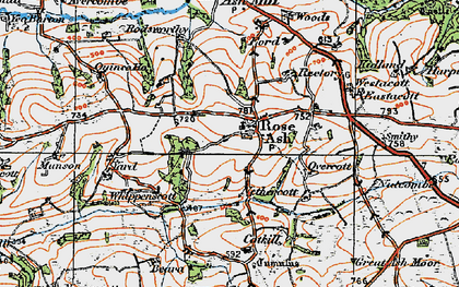Old map of Whippenscott in 1919