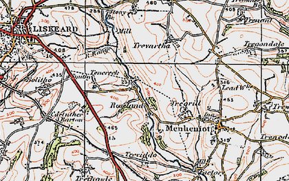 Old map of Roseland in 1919