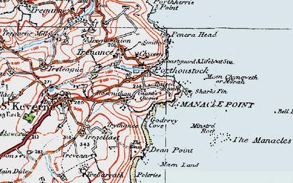 Old map of Rosenithon in 1919