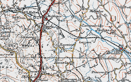 Old map of Rosevean in 1919
