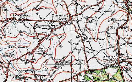 Old map of Rosewarne in 1919