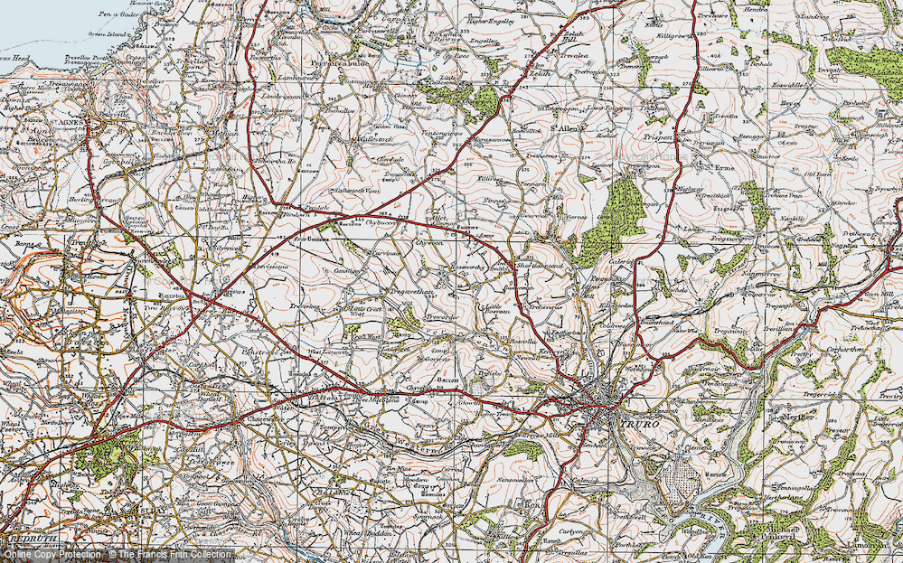 Old Map of Roseworthy, 1919 in 1919