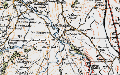 Old map of Langhowe Pike in 1925