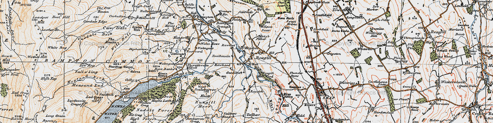 Old map of Wilson Scar in 1925