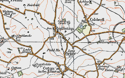 Old map of Rosliston in 1921