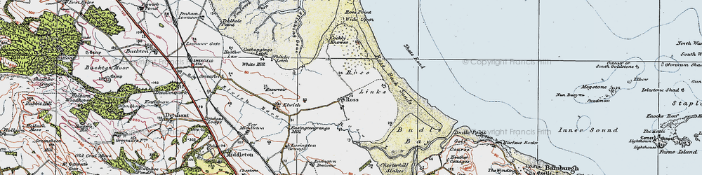 Old map of Wide Open in 1926