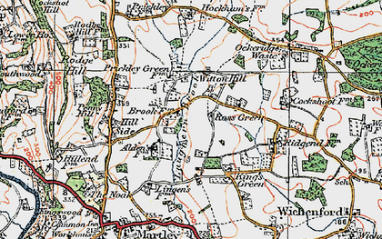Old map of Laughern Brook in 1920