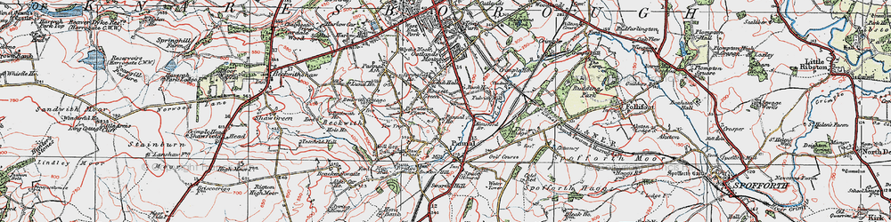 Old map of All Saints Court in 1925