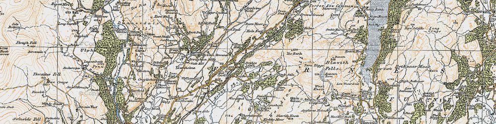 Old map of Woodland Grove in 1925