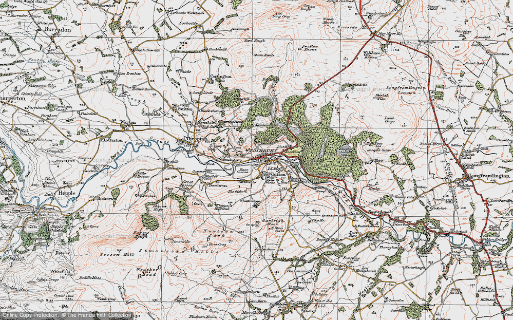 Old Map of Historic Map covering Addycombe in 1925