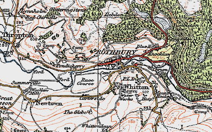 Old map of Whittondean in 1925