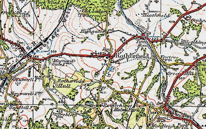 Old map of Rotherfield in 1920