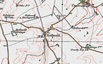 Old map of Badger Hills in 1923