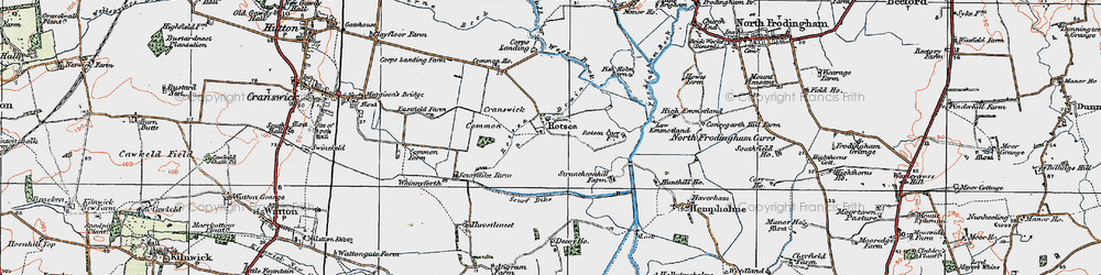 Old map of Whinnyforth in 1924