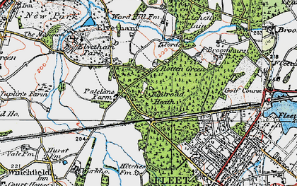 Old map of Lichett Plain in 1919