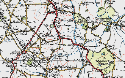 Old map of Lansdowne in 1921