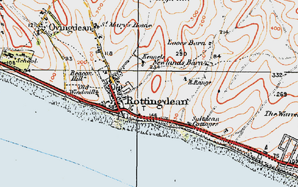 Old map of Rottingdean in 1920