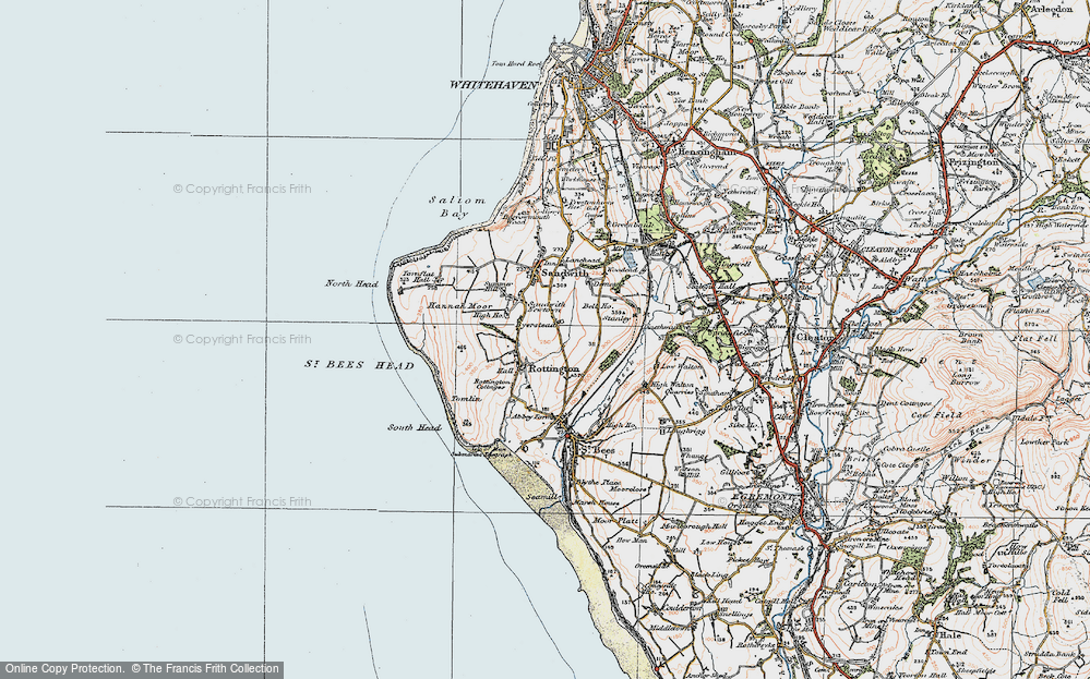 Old Map of Historic Map covering Tomlin in 1925