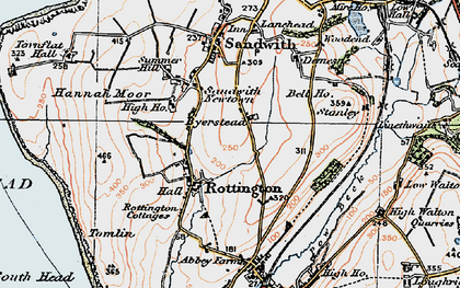 Old map of Tomlin in 1925