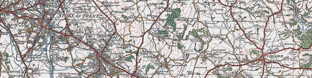 Old map of Tickhill in 1921