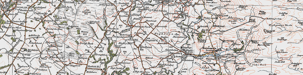 Old map of Whintingstown in 1925