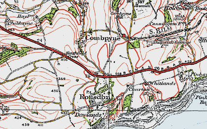 Old map of Westhayes in 1919