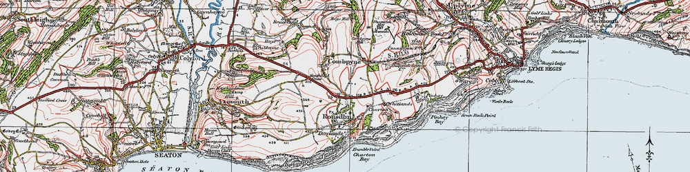 Old map of Whitlands in 1919