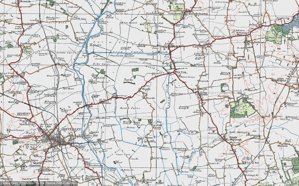 Old Map of Routh, 1924 in 1924