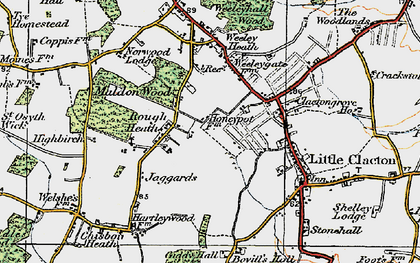 Old map of Ampers Wick in 1921