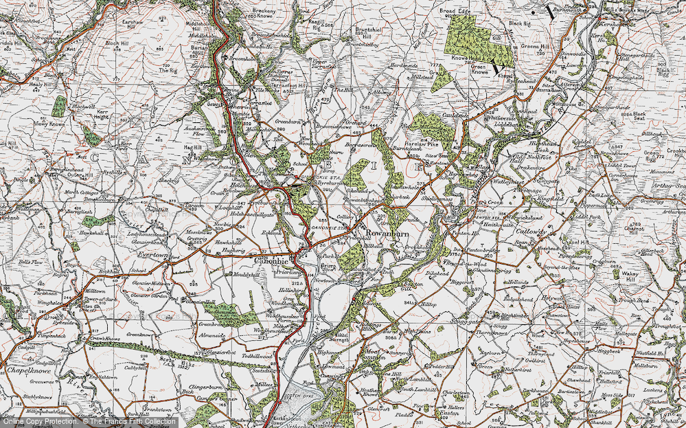 Old Map of Historic Map covering Airnlee in 1925
