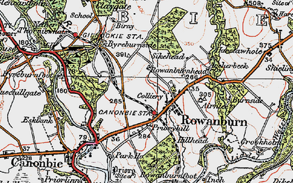Old map of Airnlee in 1925