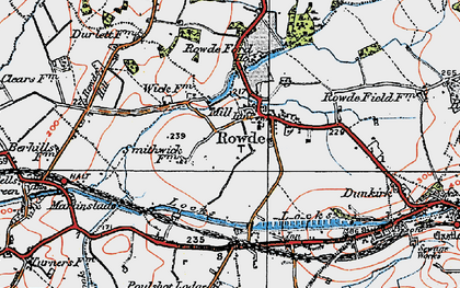 Old map of Rowde in 1919