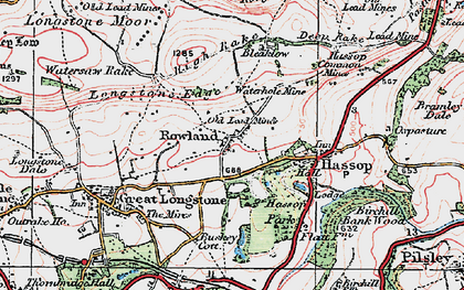 Old map of Rowland in 1923