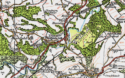 Old map of Rowlands Gill in 1925