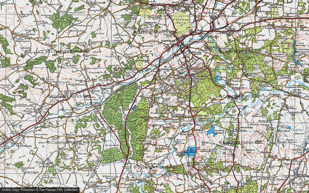 Old Map of Rowledge, 1919 in 1919