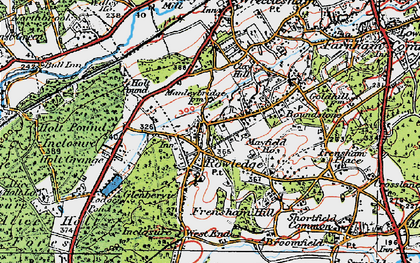Old map of Rowledge in 1919