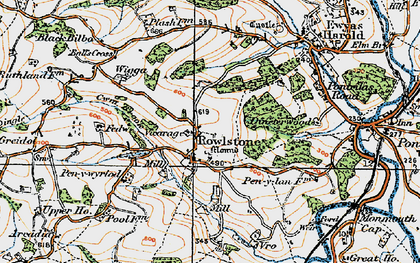 Old map of Ball's Cross in 1919