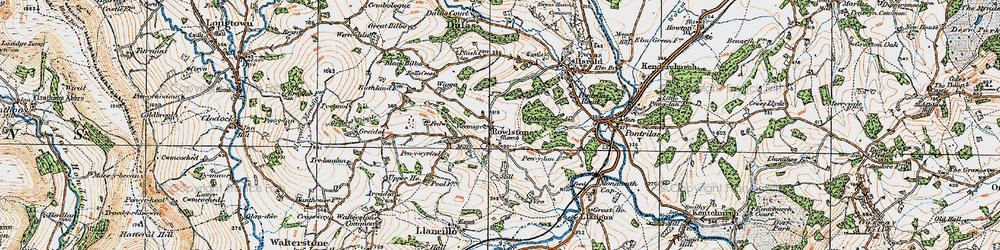 Old map of Wigga in 1919